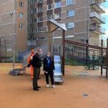 Волонтёры проверили качество обработки детской площадки на улице Молодежной в Одинцово