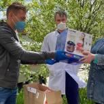 Александр Легков подарил средства защиты медикам районной больницы Сергиева Посада