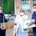 Врачам Белоомутской больницы в городском округе Луховицы подарили продуктовые наборы