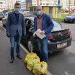 Волонтеры передали продуктовые наборы нуждающимся семьям из Некрасовки