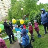 В Пушкинском округе партийцы курируют ремонт веранды детского сада «Снежинка»