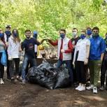 Подмосковные партийцы в Международный день экологии провели субботники и ликвидировали стихийную свалку в лесу