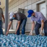 Одинцовские волонтёры передали 7 тысяч бутылок питьевой воды госпиталю в «Патриоте»