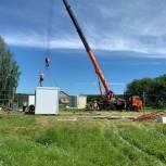 Нацпроект «Здравоохранение»: в Камешкирском районе приступили к монтажу модульного здания ФАП