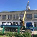 В Вольском районе партийцы осмотрели ход ремонта школ