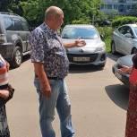 Партийцы Лобни помогут жителям решить вопрос со сложной дорожно-транспортной ситуацией на дворовой территории