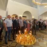 В День крещения Руси партийцы Балашихи приняли участие в торжественной службе в новом храме