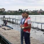 Депутат помог стройматериалами водно-спортивной базе областной школы по гребле на байдарках и каноэ