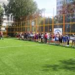 В Мытищах открыта спортивная площадка во дворе дома №33 по улице Юбилейная