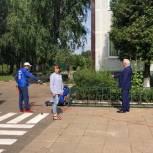Единороссы помогли установить велопарковку на территории Ликинской средней школы
