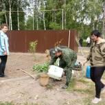 Чучковские единороссы провели субботник в центральном парке районного поселка