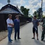 Владимир Вшивцев ознакомился с ходом восстановительных работ на местах подтопления в Рузе