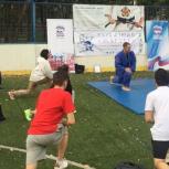 В Западном округе партийцы организовали для жителей открытый мастер-класс по дзюдо