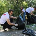 Саратовские молодогвардейцы провели экологическую акцию на утесе Степана Разина