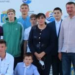 Чемпион мира поздравил юных спортсменов поселка Винзили