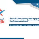 Более 15 тысяч человек зарегистрировались для участия в акции «Диктант Победы» в Московской области