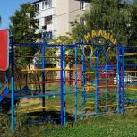 В Скопине обновили детскую площадку