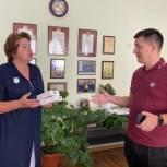 Депутат передал бесконтактные термометры в медико-биологический лицей