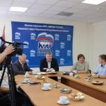 В Павловском Посаде Олег Соковиков встретился с журналистами на медиаланче
