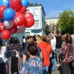 Люберецкие единороссы поздравили школьников с Днем знаний