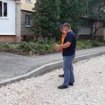 Партийцы Ленинского района продолжают контроль за работами по благоустройству
