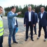 Андрей Иванов проверил ход строительства нового выезда из Трехгорки на Северный обход Одинцово