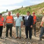 Продолжается реконструкция гидротехнических сооружений вдоль реки Ишим