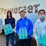 Волонтеры «Единой России» передали питьевую воду в НИИ Скорой помощи им. Н.В. Склифосовского