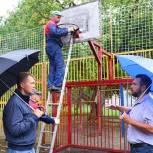 В городским округе Мытищи продолжаются ремонтные работы детских и спортивных площадок