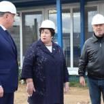 Валентина Кабанова провела мониторинг строительства новой школы