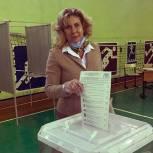 Елена Синица приняла участие в Едином дне голосования