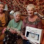В Ростокине партийцы поздравили ветерана Великой Отечественной войны
