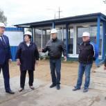 Олег Соковиков и Валентина Кабанова проверили ход строительства новой школы в Павловском Посаде