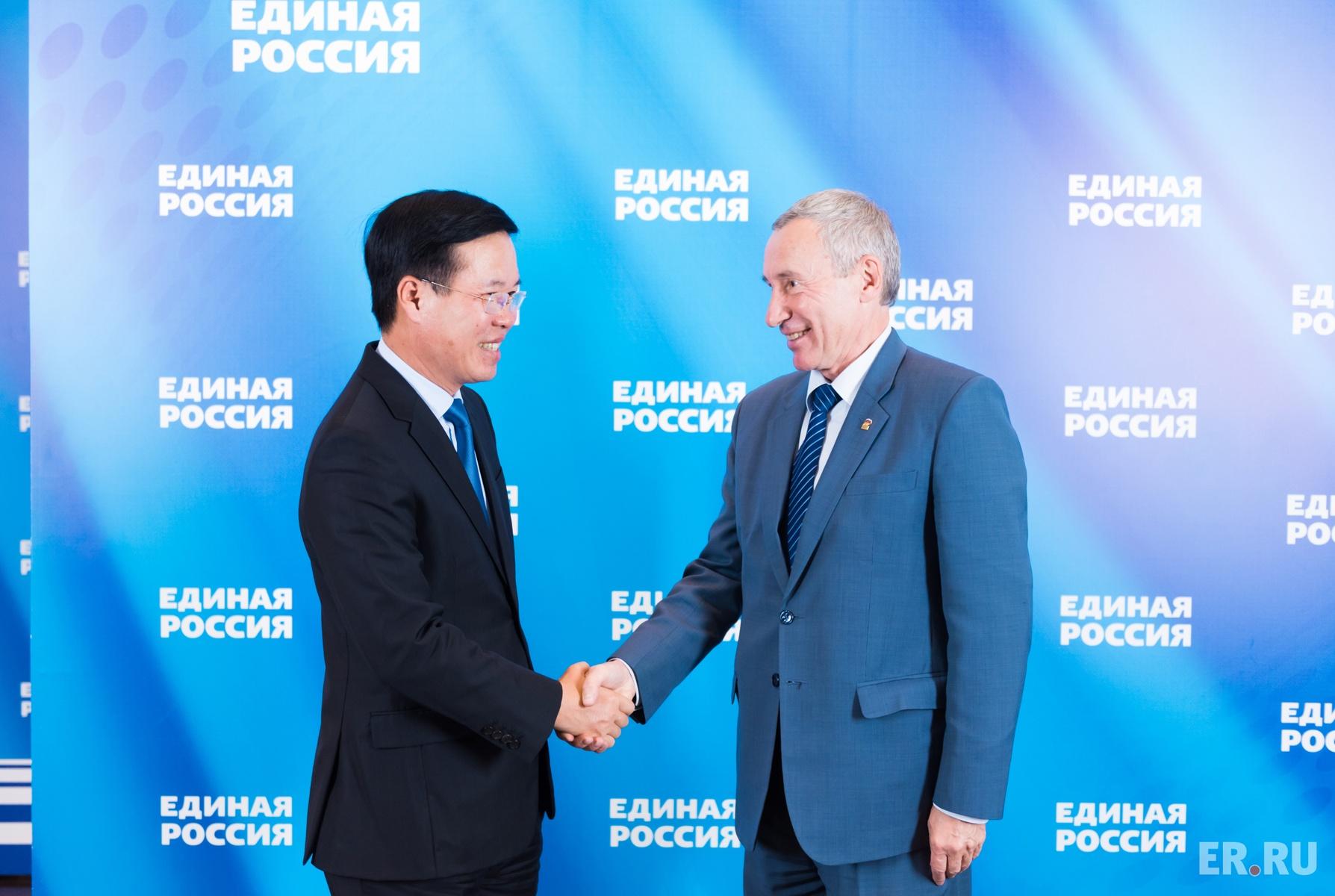 В «Единой России» прошли консультации с представителями Коммунистической партии Вьетнама