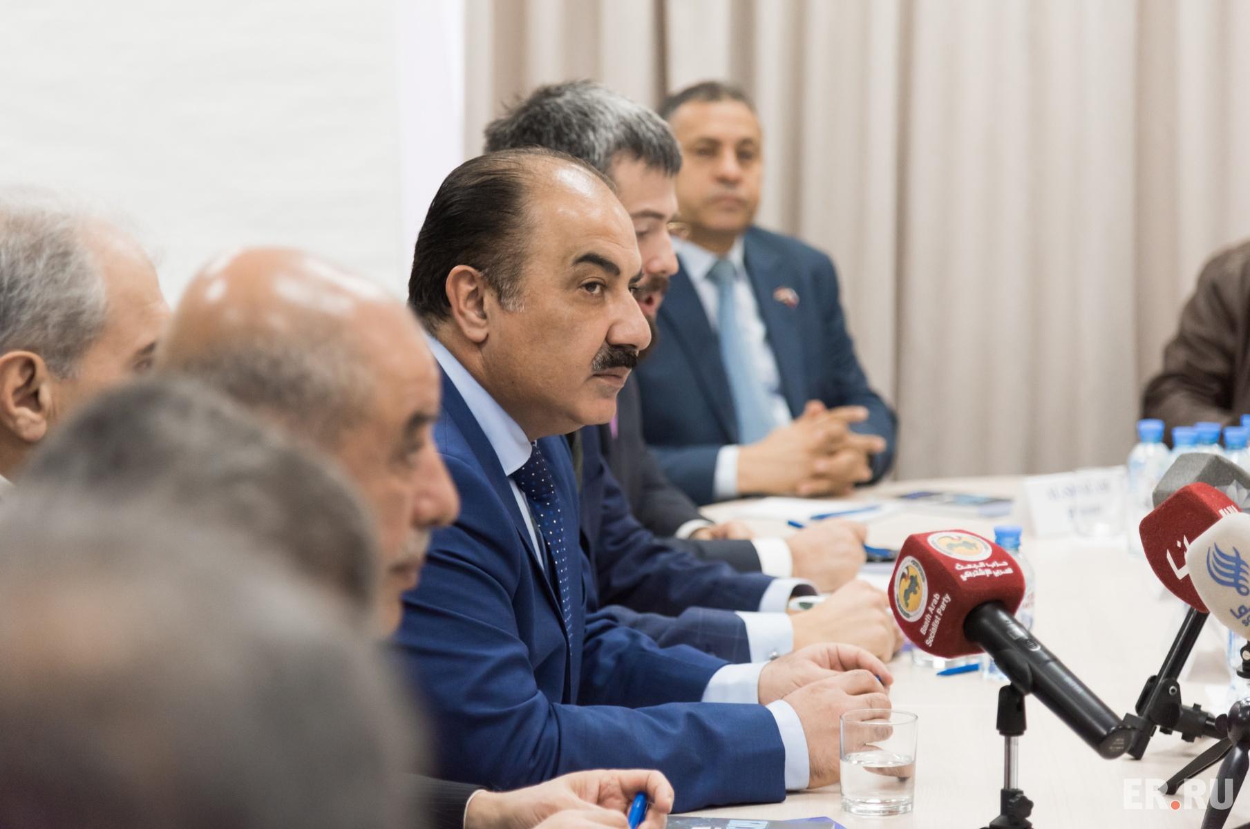 Политические консультации с делегацией партии Арабского социалистического возрождения (БААС)