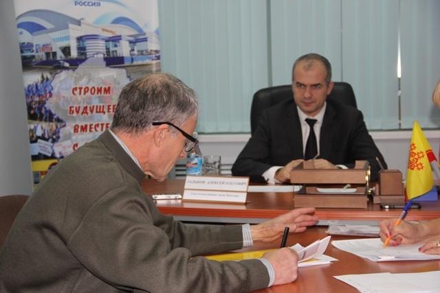 На приеме у главы администрации г. Чебоксары Алексея Ладыкова
