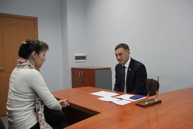 На приеме у Руководителя Региональной общественной приемной Николая Николаева