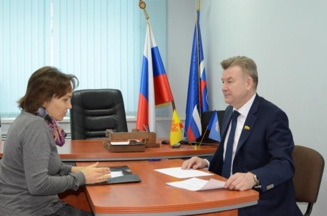 На приеме у Председателя Госсовета Чувашии Валерия Филимонова