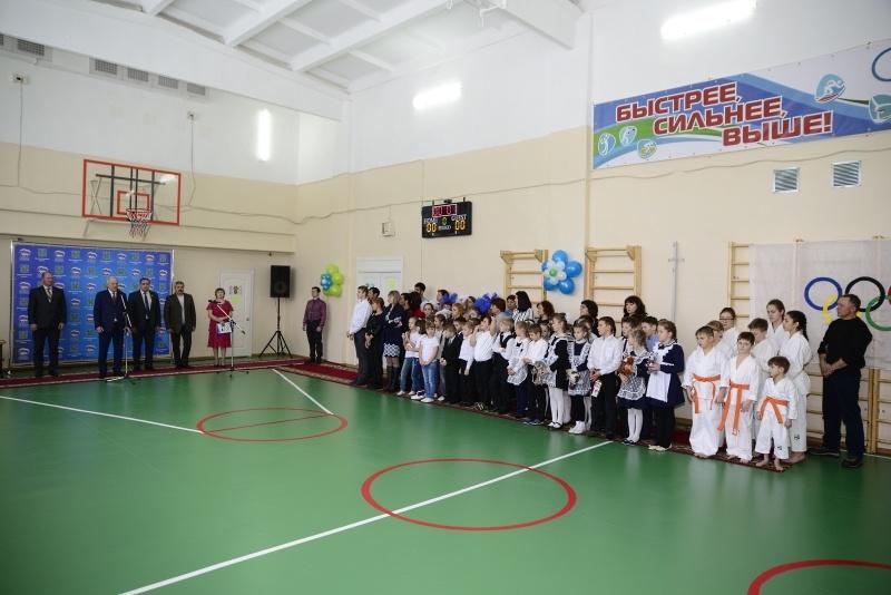 Единороссы открыли школьный спортзал в  поселке Гурское