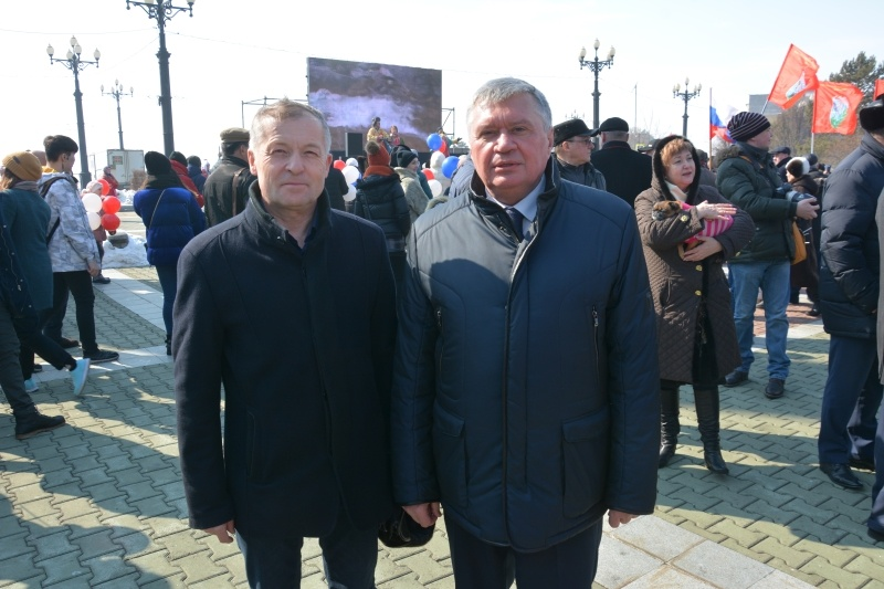 Праздничным концертом отпраздновали жители края годовщину воссоединения Крыма с Россией