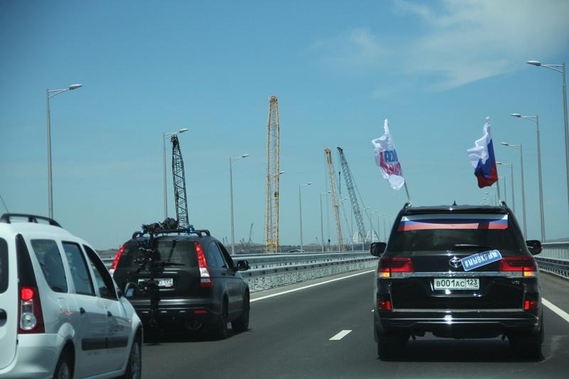 Автопробег по Крымскому мосту