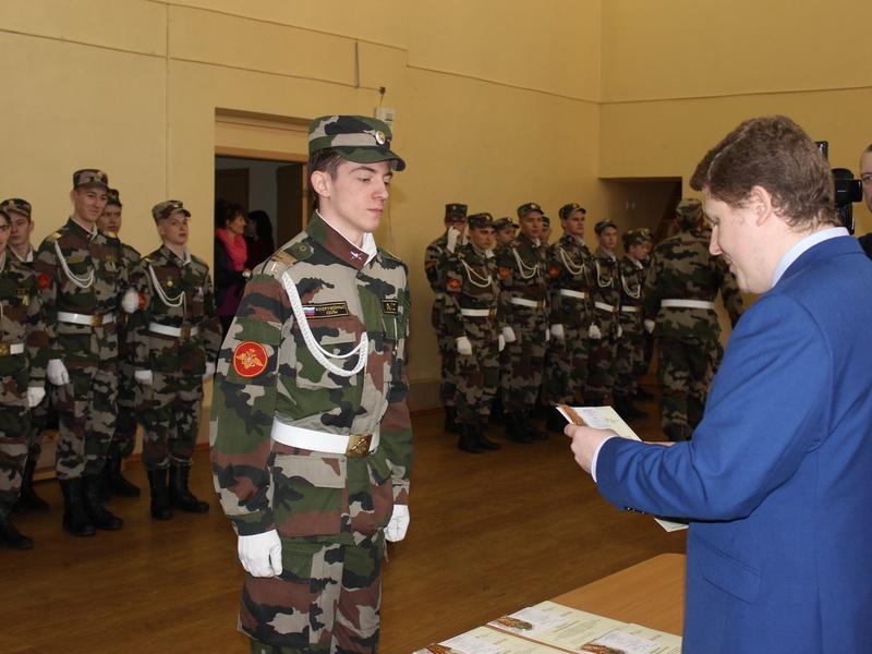 Ижевским кадетам вручили памятные знаки за участие в Параде памяти