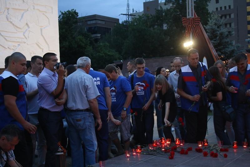 Кубанские единороссы приняли участие в акции «Свеча памяти»