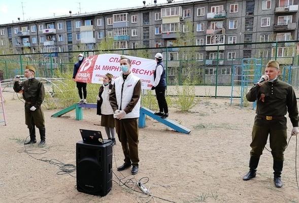 Во дворах ветеранов ВОВ состоялись концерты