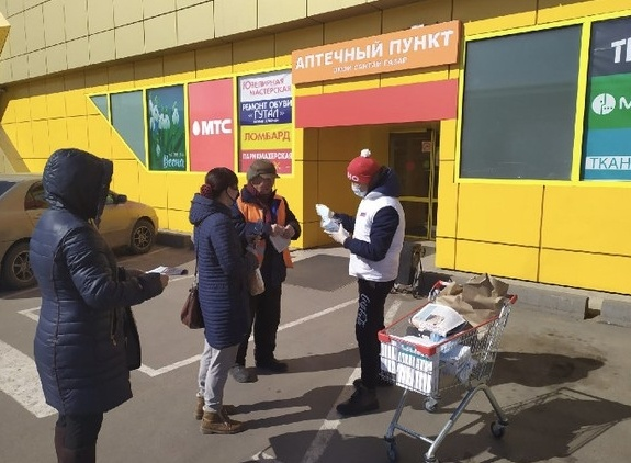 """Бесплатные маски от """"молодогвардейцев"""" получили жители Улан-Удэ"""