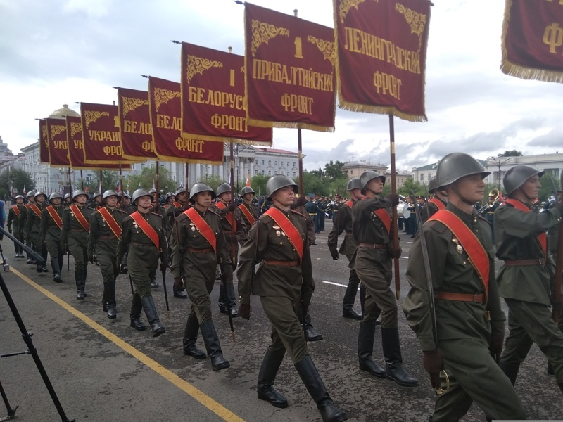 25 Парад Победы в Забайкалье состоялся 24 июня 2020 года на главной площади Читы